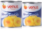 venus canned peaches